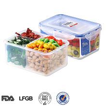 EASYLOCK wacuum Kunststoff Lebensmittelbehälter mit 4 Fächern 1200ML