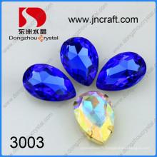 Raccord en cristal brillant coloré