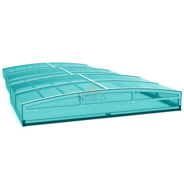 Couverture de piscine hexagonale rigide gonflable