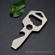 Брелок для ключей с открывалкой для бутылок из титана с высоким качеством