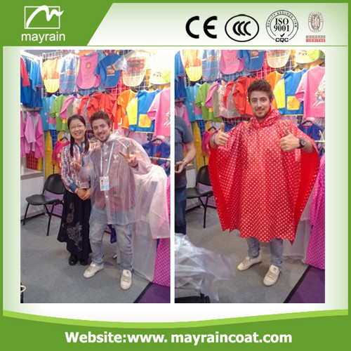 Hot Selling 190T Polyester Raincoat