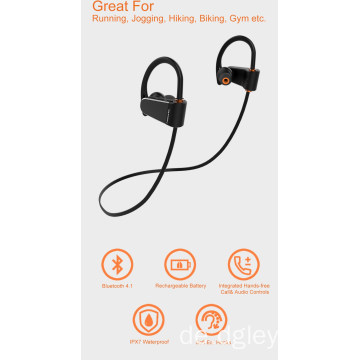 Drahtlose Kopfhörer Bluetooth IPX7 Waterproof Sports Headse