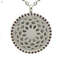 Лучшие продажи эфирного масла диффузор медальон,цветок в форме ожерелья кулон,медальон духи оптом