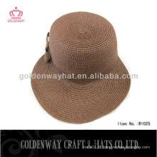 2013 Chapeau de soleil pour dames avec visière (paille en papier)