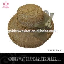 Chapéu personalizado de safari de palha de balde