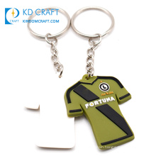 China manufacturer custom soft pvc color printing sports jersey keychain with number logo