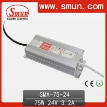 75W 3A fuente de alimentación actual constante del conductor LED prenda impermeable IP67