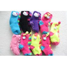 Calcetines encantadores de los niños mullidos encantadores con la cabeza animal