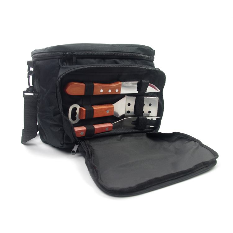 bbq tools in cooler bag