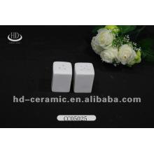Quadratisches Porzellansalz Pfefferstreuer, mini umweltfreundliche Funktion Salz- und Pfefferstreuer, personalisierte Salz- und Pfefferstreuer