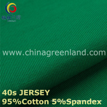 40s Cotton Spandex Knitted Jersey Fabric for Garment Shirt (GLLML219)