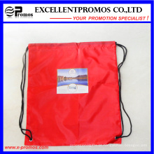 Promocional personalizado Drawstring Nylon poliéster material Backpack Bag (EP-B6192)