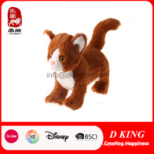 Real Simulation Soft felpa Standing Cat Peluche de juguete