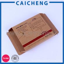 Рециркулирует печатание изготовленный на заказ складная крафт бумажная коробка упаковки
