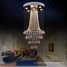Crystal chandeliers ceiling glass pendant light fixture for living room 92040