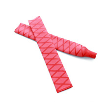 Tubes thermorétractables anti-dérapants rouges de PE d'isolation de PE