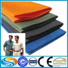 Fabricação barata de tecido de algodão poliéster para uniforme escolar