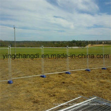 Panel lateral de la cerca del tubo de acero galvanizado sumergido caliente de la cerca temporal de la venta caliente