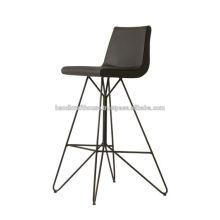 Industrial Black Cushioned Top High Bar Chair