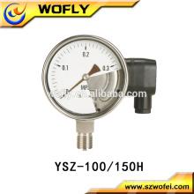 Edelstahl 304 Bodenmontage Elektrischer Kontaktmanometer