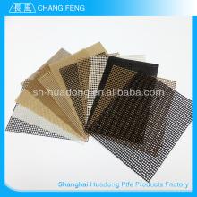 China tamanho personalizado PTFE fibra de vidro revestida malha esteira rolante, protable esteira de teflon, correia transportadora de plástico modular