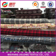 high quality 100% cotton yarn dyed flannel fabric for shirt with ready bulk yarn dyed flannel fabric with construction
