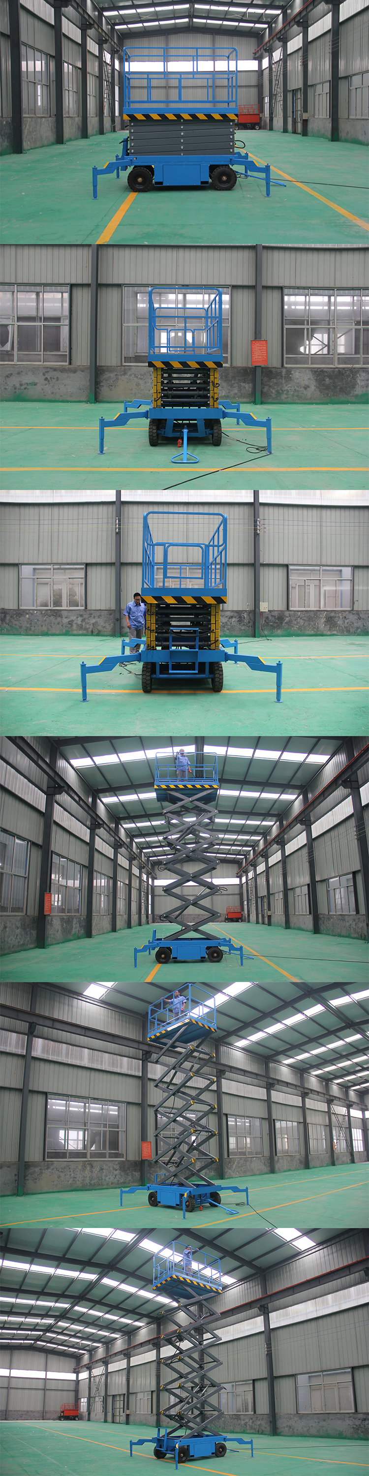 12m Height Gasoline Mobile Scissor Lift