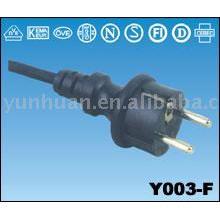 Marché européen câble VDE certifié cordon droit 16 a