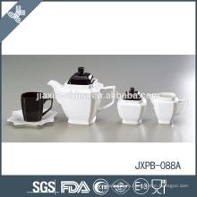 Подгонянный черно-белый элегантный керамический чайник с арабским стилем