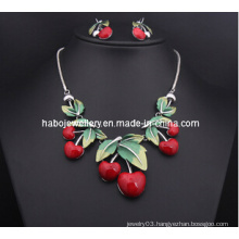 Resin Cherry Necklace Set/Fashion Jewelry Set (XJW13207)