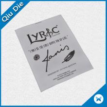 Etiqueta al por mayor del cuidado del satén de la impresión para los accesorios de la ropa