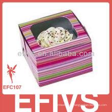 Popular personalizada impresa taza de pastel de la caja al por mayor