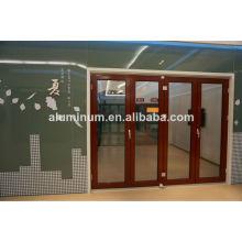 china wooden aluminum glass doors