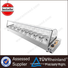 High Resistant To Corrosion And Rust Kitchen Equipment 9-Pan Commercial Bain Marie Food Warmer