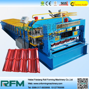 Metal steel tile glazed type forming machine