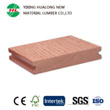 Decking WPC solide imperméable à l'eau avec la qualité (HLM40)