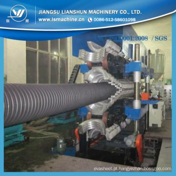 Máquina ondulada da tubulação dos PP do PE de 200-800 milímetros