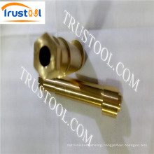 Clear Coated Round Brass Standoff Female Machining Part