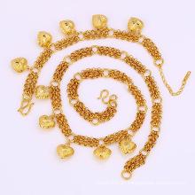 Xuping 24k oro plateado cadenas de joyería de moda conjunto (61690)