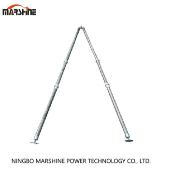 A-Shape Tubular Gin Pole para Erection Tower