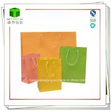 Bolsas de papel de Kraft coloridas