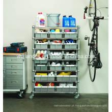 Bricolage Heavy Duty Garrafa de Metal Garagem Bin Storage Wire Rack