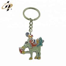 Gros porte-clés en métal émail animal personnalisé porte-clés en argent avec porte-clés