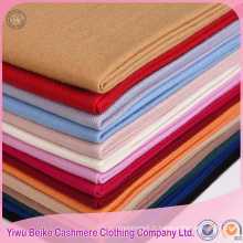 2017spring mode marque de mode couleur unie 100% laine mince pashmina châle