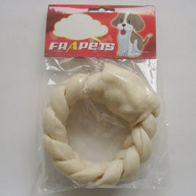 """Dog Chew of 5""""-6"""" White Puffy Braided Ring for Dog"""