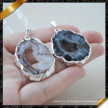 Neuestes Entwurfs-natürlicher Edelstein Drusy Achat-Halskette (FN086-1)
