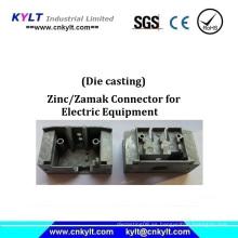 Conector Zamak de zinc para equipos eléctricos