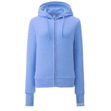 2016 Fashion Zip up Lady Fleece Sport Hoody