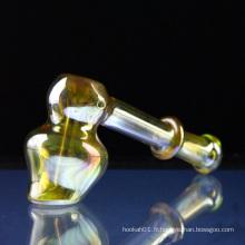 Vente en gros de tuyaux en verre pour fumer avec Bubbler (ES-HP-084)