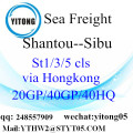 Internationalen Shiping Container von Shantou nach Sibu